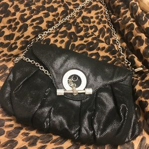 Women's Black clutch with Rhinestone accents 💎